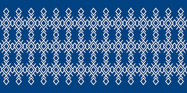 Padrão de tecido sem costura, repetindo design com formas geométricas.