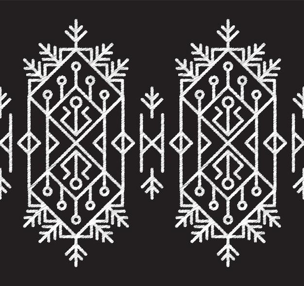 Padrão de tecido tribal asteca sem emenda