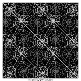 Padrão de teia de aranha em cores preto e branco