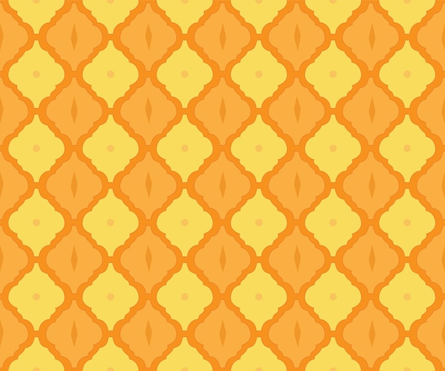 Padrão de telha arabesco como origem étnica de estilo árabe para tecido sem costura de mosaico islâmico marroquino