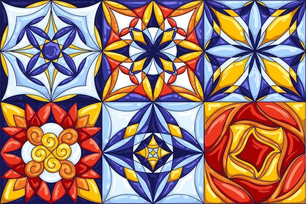 Padrão de telha cerâmica. fundo abstrato decorativo.