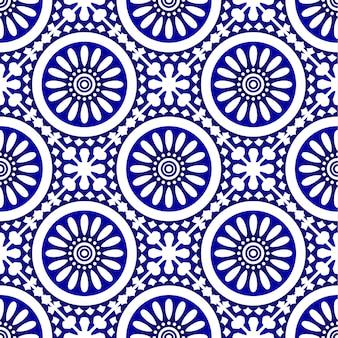 Padrão de telha cerâmica, sem costura moderna de porcelana