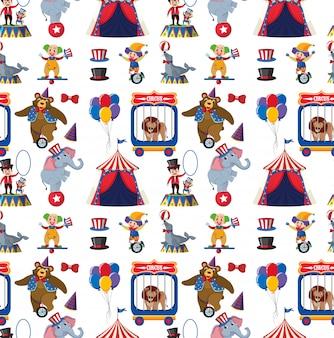 Padrão de tema de circo