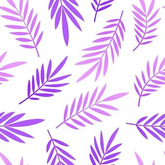 Padrão de tendência neon com folhas tropicais de palmeira