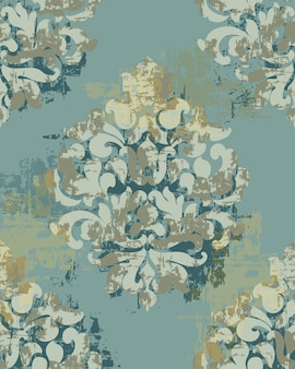 Padrão de textura barroca. ornamento de decoração floral