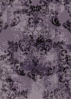 Padrão de textura barroca