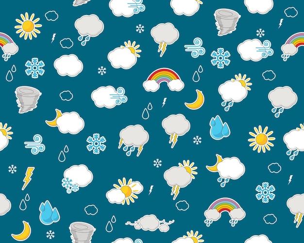 Padrão de textura plana sem costura de vetor relatório meteorológico