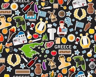 Padrão de textura plana sem costura vector Grécia
