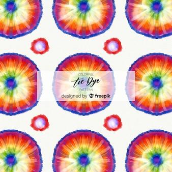 Padrão de tie-dye colorido