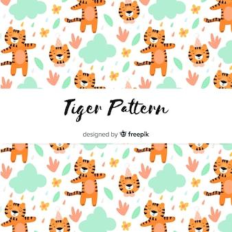 Padrão de tigre a dançar