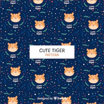 Padrão de tigre com pontos