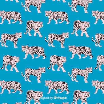 Padrão de tigre criativo mão desenhada
