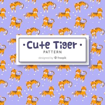 Padrão de tigre e pontos