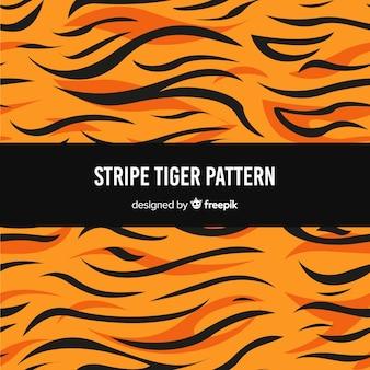 Padrão de tigre listra