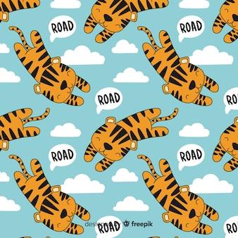 Padrão de tigre voador