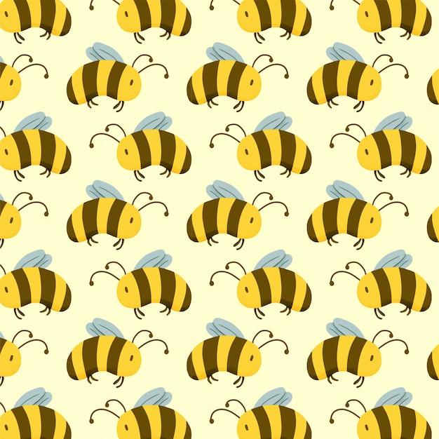 Padrão de tinta sem costura abelha