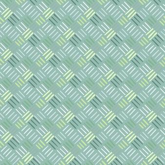 Padrão de traço geométrico sem costura com linhas diagonais azuis e verdes.