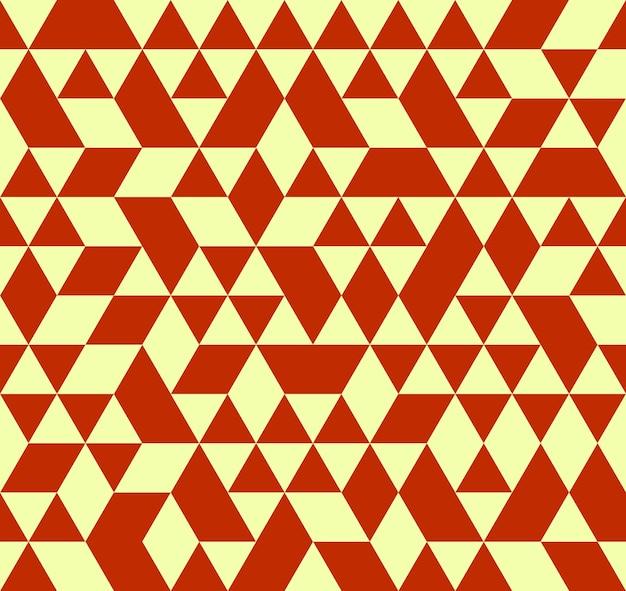 Padrão de triângulo de cor retro