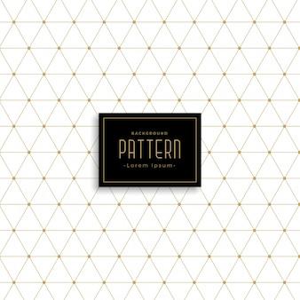 Padrão de triângulo de ouro padrão de pontos de fundo