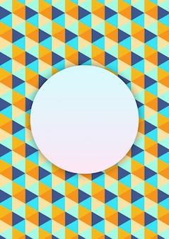 Padrão de triângulo geométrico vetorial
