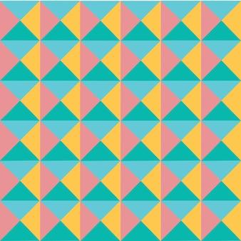 Padrão de triângulo moderno colorido pastel geometria vetorial