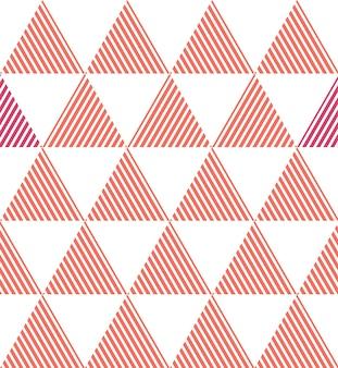 Padrão de triângulo na cor living coral. fundo geométrico abstrato. cor do ano 2019. ilustração de estilo luxuoso e elegante