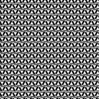 Padrão de triângulo preto e branco