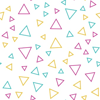 Padrão de triângulos aleatórios, fundo abstrato. ilustração geométrica simples. estilo criativo e luxo