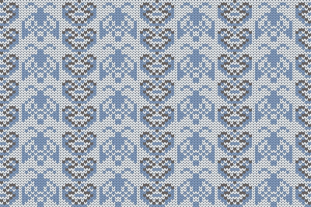 Padrão de tricô de férias de natal e inverno para xadrez