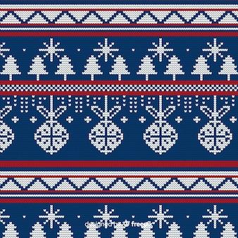 Padrão de tricô de natal