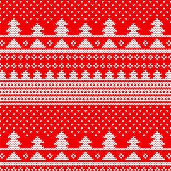 Padrão de tricô sem costura de natal