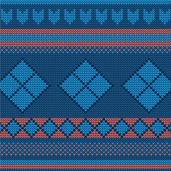 Padrão de tricô sem costura