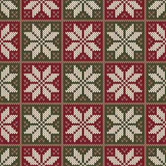 Padrão de tricô tradicional de inverno