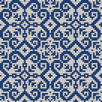 Padrão de tricô tradicional para camisola feia