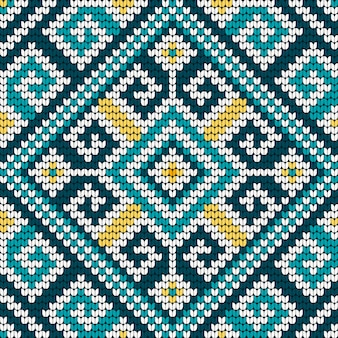 Padrão de tricô tradicional popular