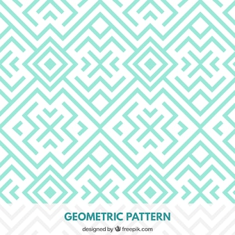 Padrão de turquesa geométrica