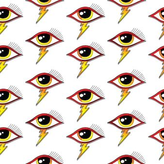 Padrão de um olho sem costura