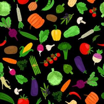 Padrão de vegetais coloridos
