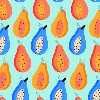 Padrão de verão com frutas
