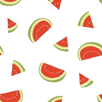 Padrão de verão de fatia de melancia