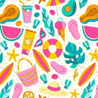 padrão de verão desenhado à mão
