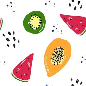 Padrão de verão frutas