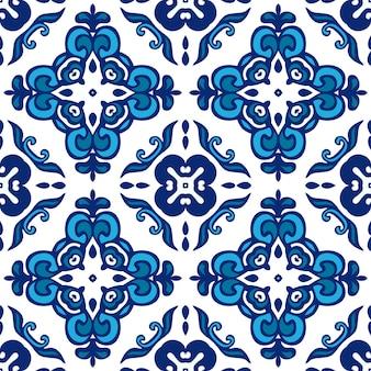 Padrão de vetor abstrato sem costura ornamental de inverno para tecido