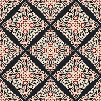 Padrão de vetor abstrato sem costura ornamental para tecido e papel de parede