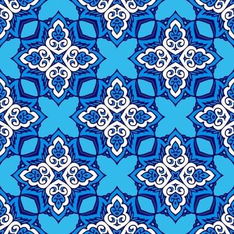 Padrão de vetor abstrato sem costura ornamental para tecido