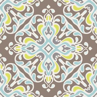 Padrão de vetor abstrato sem costura vintage luxo ornamental para tecido