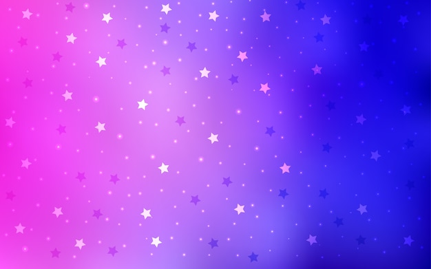 Padrão de vetor azul com estrelas de natal
