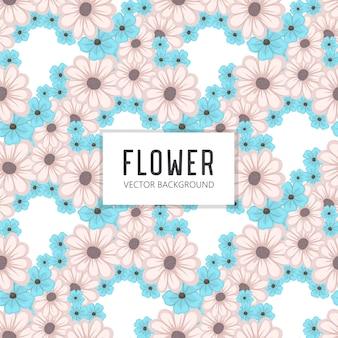 Padrão de vetor de buquê floral com flores e folhas