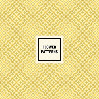Padrão de vetor de flores para decorar o fundo da página web e texturas de superfície