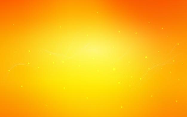 Padrão de vetor de luz laranja com esferas